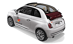 book Fiat 500C, Opel Adams Rock or similar